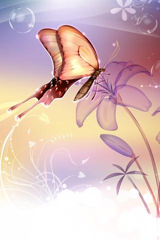 Butterfly ipone wallpaper