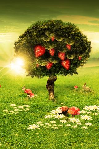 Strawberry Tree iphone wallpaper