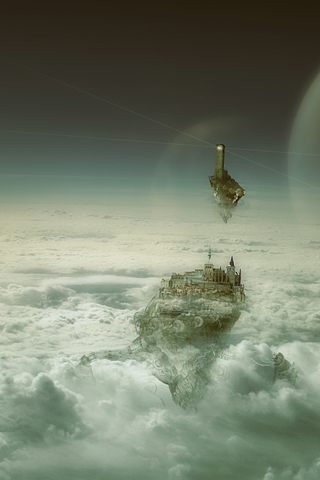 Floating City iphone wallpaper