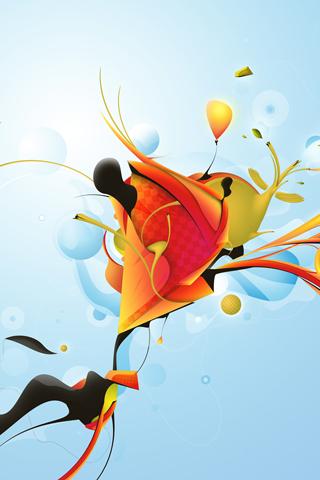 Abstract Petals iphone wallpaper