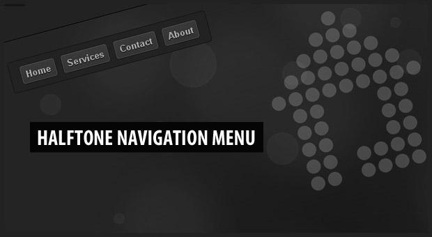 Halftone Navigation Menu With jQuery & CSS3