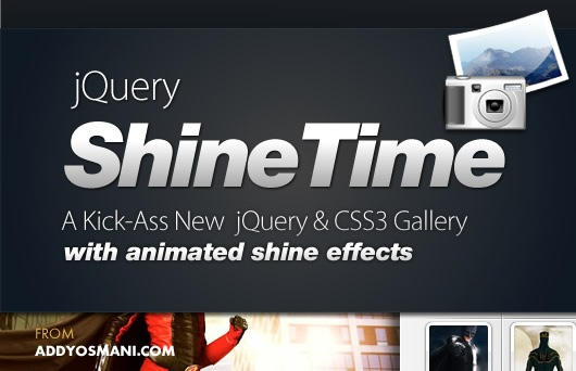 Query & CSS3 Gallery With Animated Shine Effects