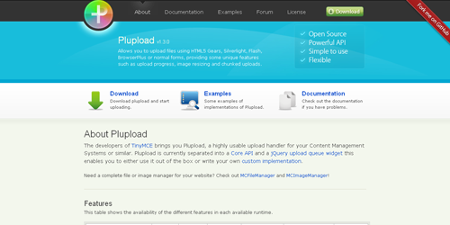 Plupload Components for Javascript Developers