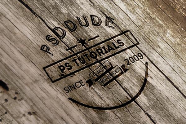 Create an Engraved Wood Logo