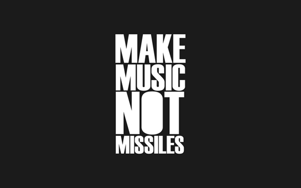 Make Music NOT Missiles wallpaper