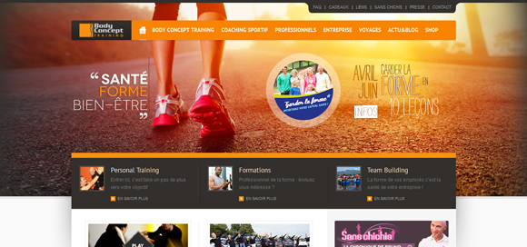 20+ Inspirational Orange Color Websites Designs