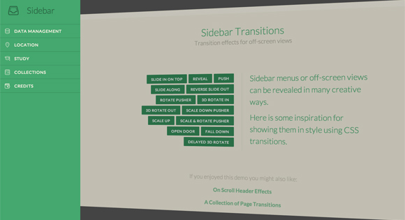 Collections of Jquery, CSS3 and SVG Animation and Transition Roundups