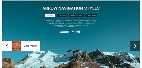 Animated Arrow Navigations