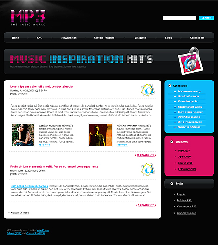 MP3 Store WordPress Theme
