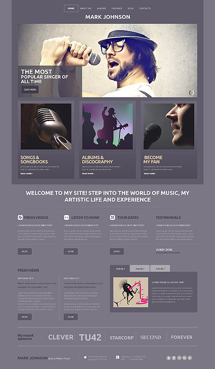 Singer WordPress Theme