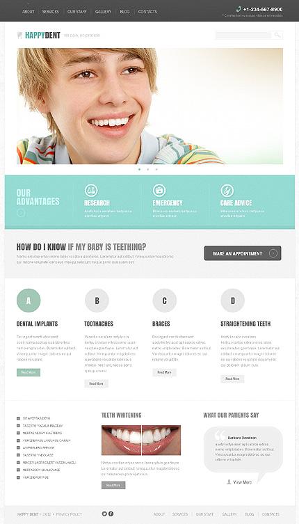 Sterile Dentistry Joomla Template