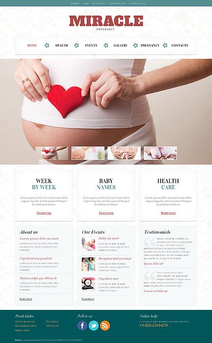 Pregnancy Responsive WordPress Theme