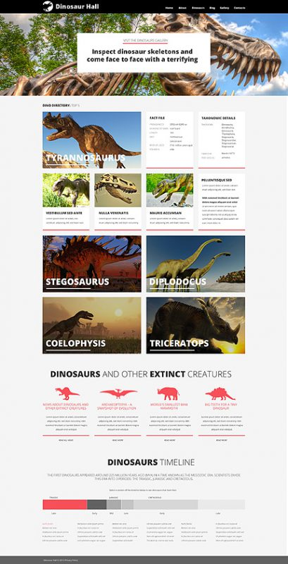 Museum Responsive WordPress Theme