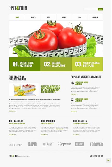 Weight Loss Responsive WordPress Theme